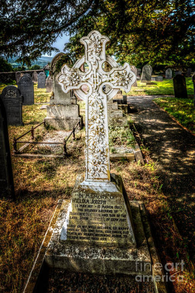 Gravestone Photograph - Celtic Cross by Adrian Evans