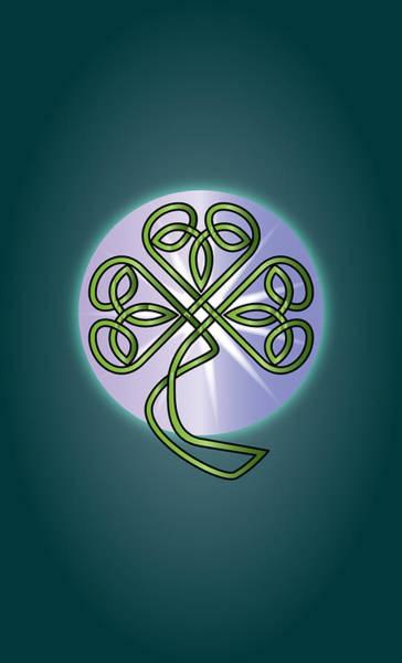 Wall Art - Digital Art - Celtic Shamrock by Ireland Calling