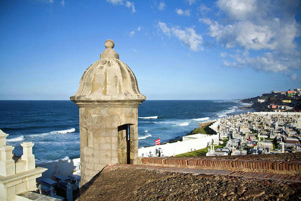 Oceanfront Photograph - Cemetery And La Perla From El Morro by Miva Stock