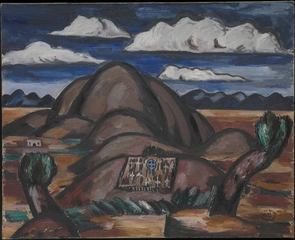 Central America Painting - Cemetery, New Mexico by Marsden Hartley