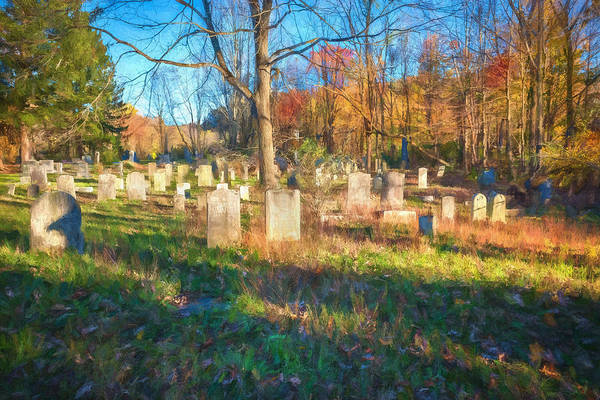Photograph - Cemetery Sussex County New Jersey Painted  by Rich Franco