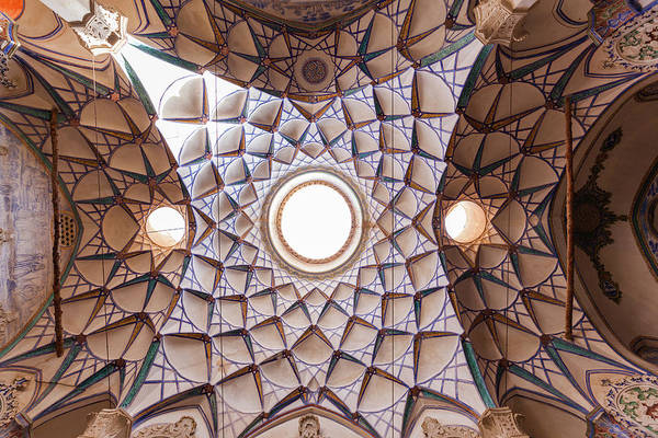 Central Asia Photograph - Central Iran, Kashan, Khan-e by Walter Bibikow