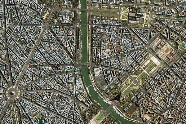Invalides Photograph - Central Paris by Geoeye/science Photo Library