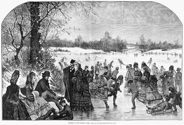 Painting - Central Park Ice Skating by Granger