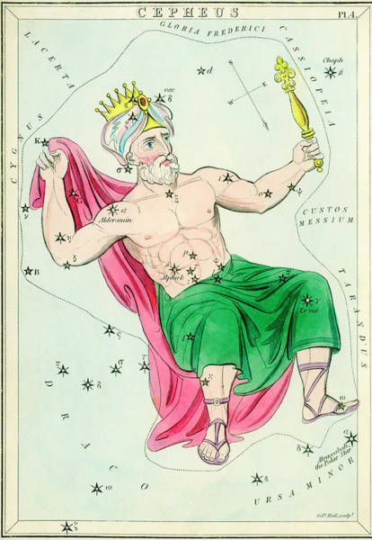 Mythological Photograph - Cepheus Constellation by Royal Astronomical Society/science Photo Library