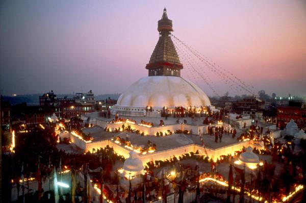 Wall Art - Photograph - Ceremony At Boudha Stupa, Nepal by Alison Wright