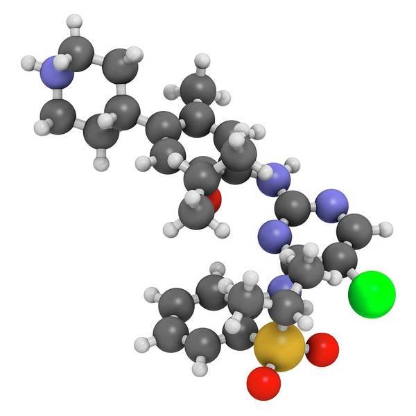 Lung Photograph - Ceritinib Cancer Drug Molecule by Molekuul