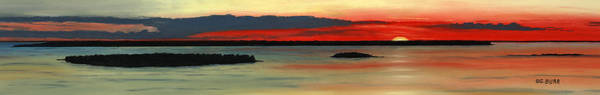 Pastel - Chambers Island Sunset II by George Burr
