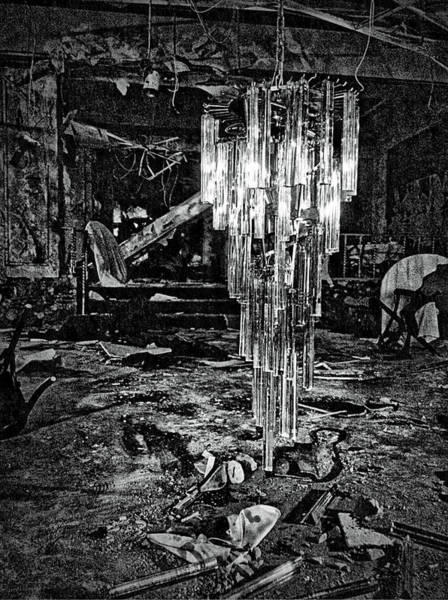 Urban Decay Wall Art - Photograph - Chandelier by H James Hoff