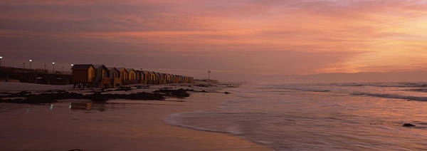 False Color Wall Art - Photograph - Changing Room Huts On The Beach by Panoramic Images