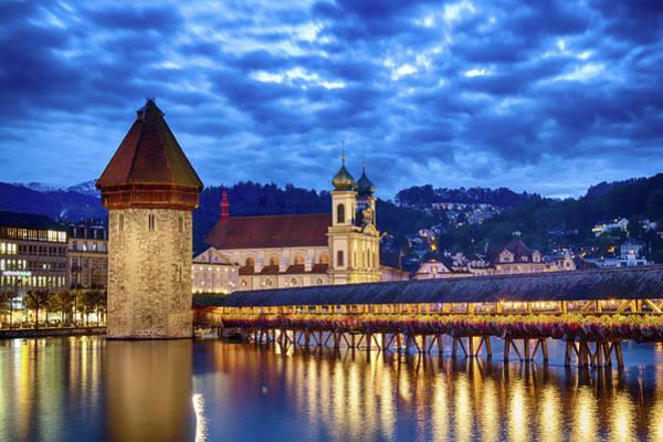Chapel Bridge Photograph - Chapel Bridge Lucerne - Switzerland by Tobias Theiler