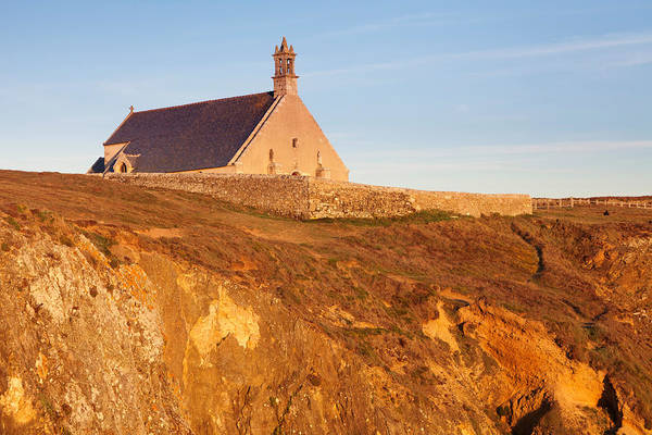 Chapelle Photograph - Chapel On A Cliff, Chapelle Saint-they by Panoramic Images