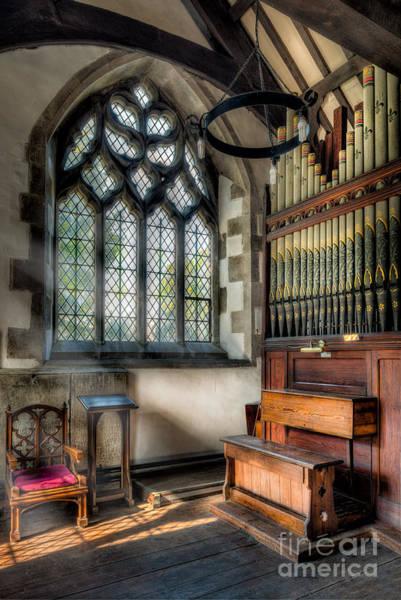 Wooden Church Wall Art - Photograph - Chapel Organ by Adrian Evans