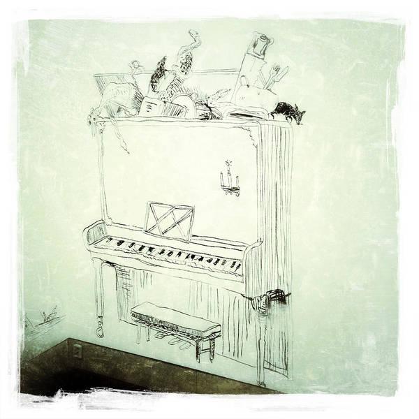 Photograph - Charcoal Piano by Natasha Marco