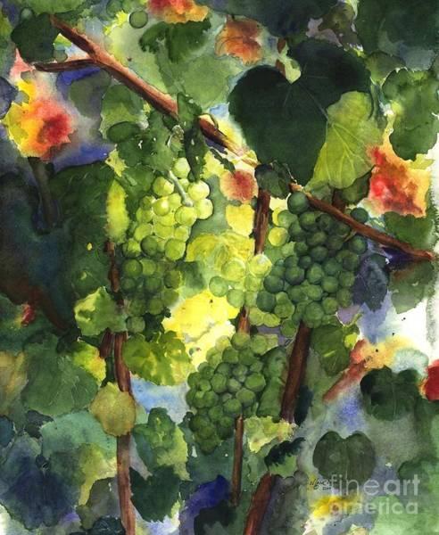Wall Art - Painting - Chardonnay Au Soliel by Maria Hunt