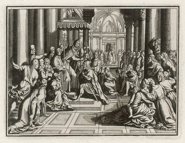 Wall Art - Drawing - Charlemagne Is Crowned Emperor by Mary Evans Picture Library