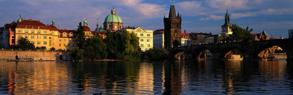 Hundred Photograph - Charles Bridge Vltava River Prague by Panoramic Images