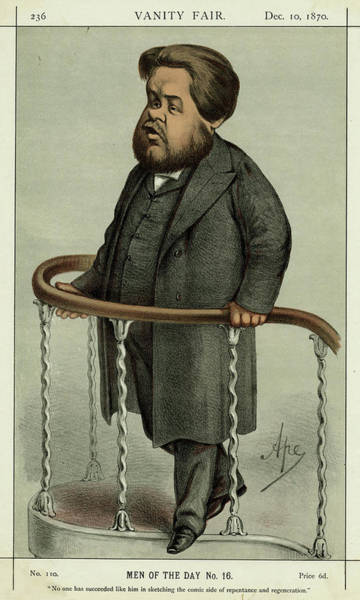 Wall Art - Drawing - Charles Haddon Spurgeon  English by Mary Evans Picture Library