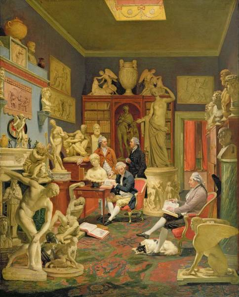 D.c Painting - Charles Townley And His Friends by Johann Zoffany