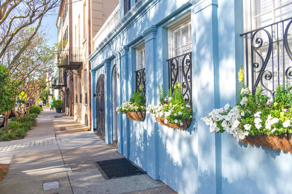 Low Battery Photograph - Charleston Sc Rainbow Row by Willie Harper