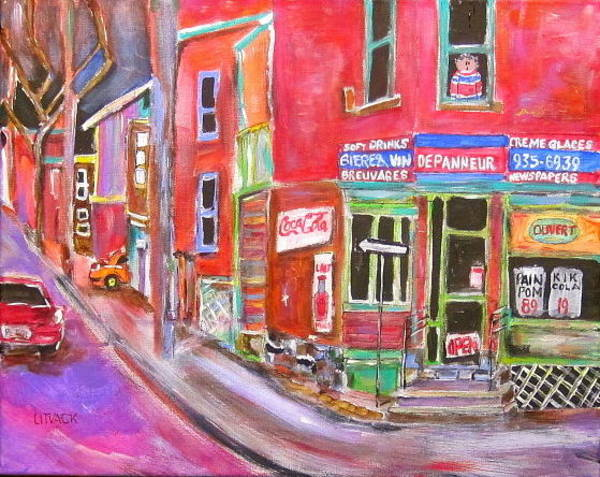 Wall Art - Painting - Charlevoix Depanneur by Michael Litvack