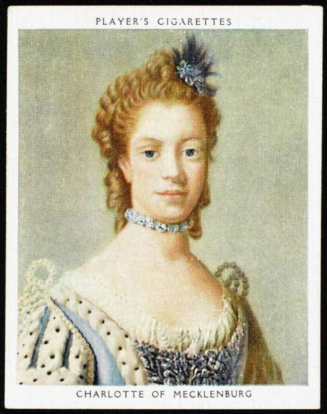 Wall Art - Drawing - Charlotte Of Mecklenburg  Queen by Mary Evans Picture Library
