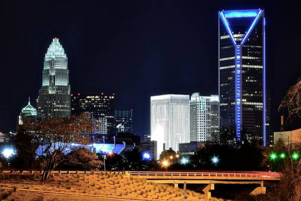 Charlotte Nc Wall Art - Photograph - Charlotte Towers by Frozen in Time Fine Art Photography
