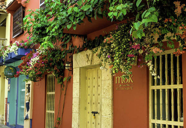 Colombian Wall Art - Photograph - Charming Spanish Colonial Architecture by Jerry Ginsberg