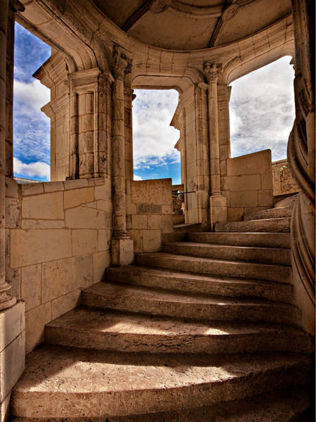 Photograph - Chateau De Blois Staircase / Loire Valley by Barry O Carroll