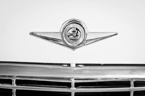 Checker Photograph - Checker Taxi Cab Emblem by Jill Reger