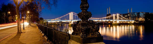Fire Place Photograph - Chelsea Bridge With Battersea Power by Panoramic Images