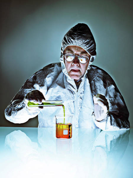 Protective Clothing Photograph - Chemistry by Coneyl Jay/science Photo Library