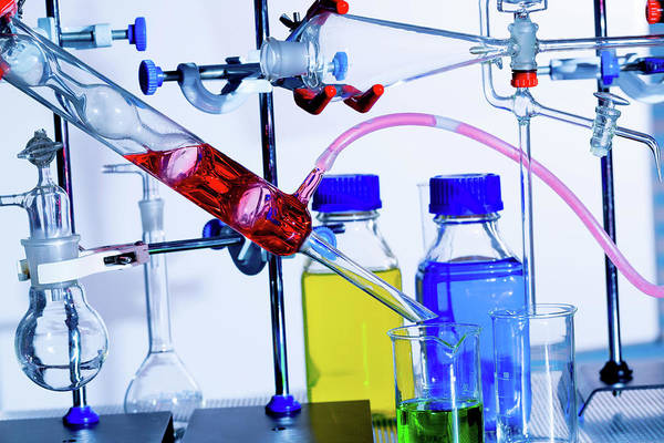 Chemistry Experiment In Lab Art Print