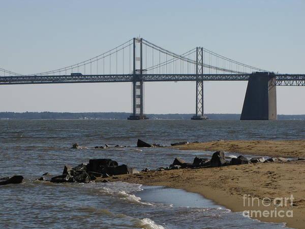 Sandy Point State Park Photograph - Chesapeake Bay Bridge by Ben Schumin