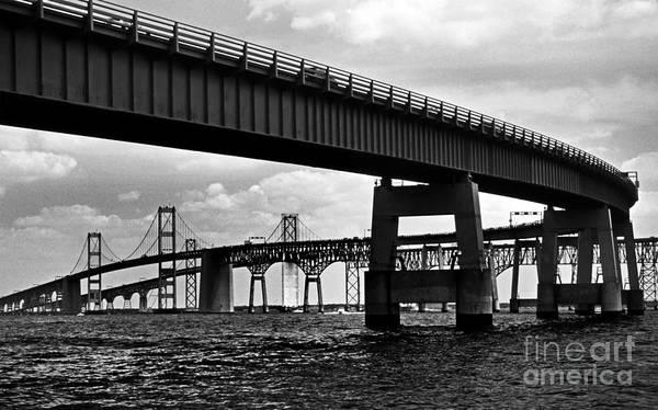 Scenic Byway Photograph - Chesapeake Bay Bridge  by Skip Willits