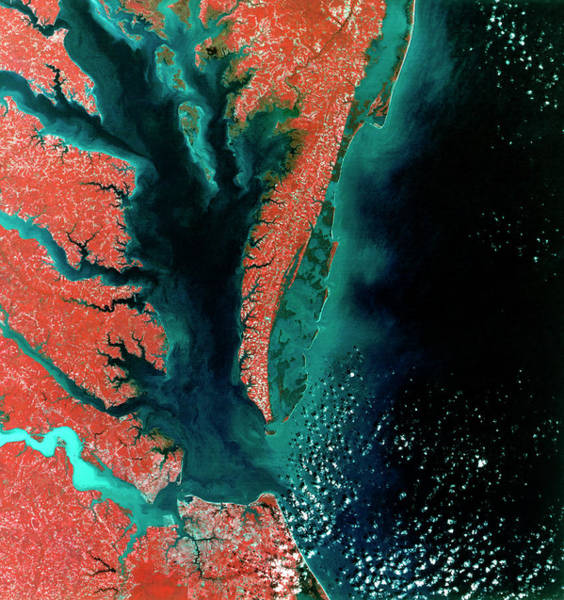 Norfolk Virginia Wall Art - Photograph - Chesapeake Bay by Mda Information Systems/science Photo Library