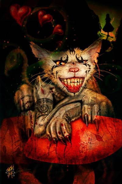 Digital Art - Cheshire Cat by Doug Schramm