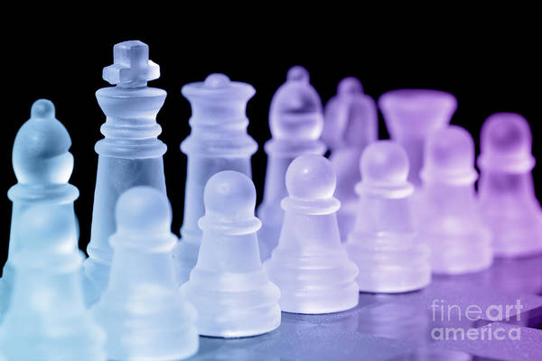 Rook Photograph - Chess Pieces by Amanda Elwell