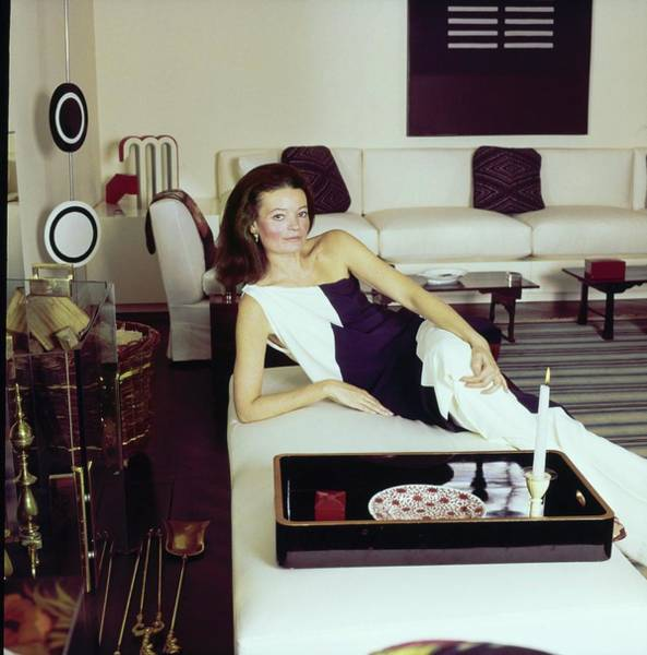 Tray Photograph - Chessy Rayner In Her Living Room by Horst P. Horst