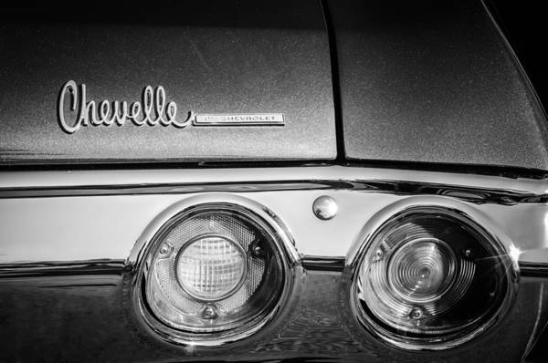 Photograph - Chevrolet Chevelle Ss Taillight Emblem -0015c by Jill Reger