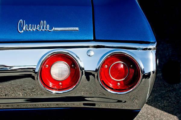 Chevy Chevelle Wall Art - Photograph - Chevrolet Chevelle Ss Taillight Emblem -0154c by Jill Reger