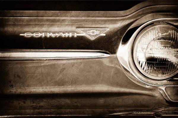 Corvair Photograph - Chevrolet Corvair Emblem by Jill Reger