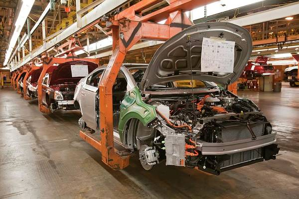 Plug-in Photograph - Chevrolet Volt Assembly Line by Jim West