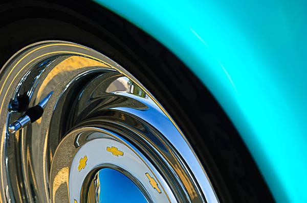 Photograph - Chevrolet Wheel Emblem by Jill Reger