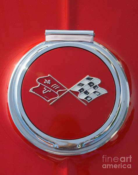 Photograph - Chevy Corvette Sting Ray Coupe Logo by Mark Dodd