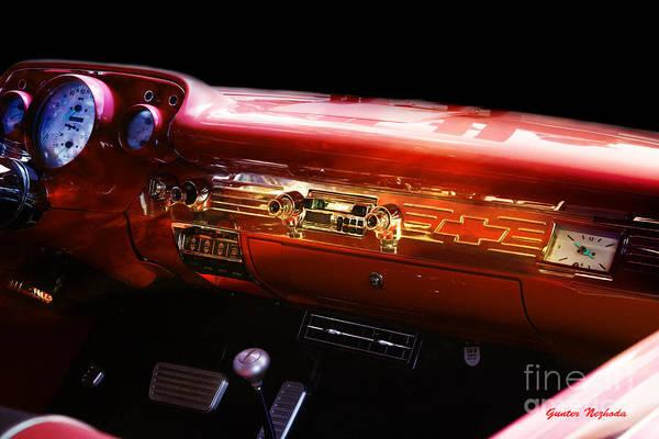 Photograph - Chevy Dash In Red by Gunter Nezhoda