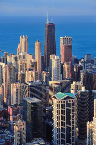 Wall Art - Photograph - Chicago Aerial View by Songquan Deng