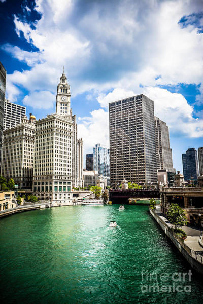 Chicago River Photograph - Chicago Downtown At Michigan Avenue Bridge Picture by Paul Velgos