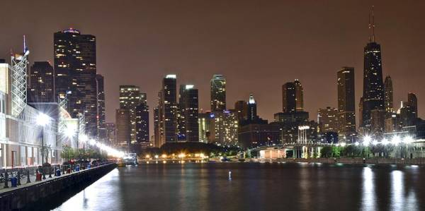 Oprah Wall Art - Photograph - Chicago From Navy Pier by Frozen in Time Fine Art Photography
