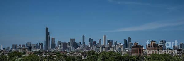 Photograph - Chicago Illinois Skyline Panoramic by David Haskett II